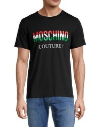 Moschino ! Logo Graphic Cotton T-shirt - Black