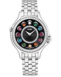 Fendi Crazy Carats Diamond, Topaz & Stainless Steel Bracelet Watch - Metallic