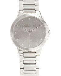 Rebecca Minkoff Cali Stainless Steel & Crystal Bracelet Watch - Metallic