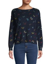 Joie - Eloisa Butterfly Cotton & Cashmere Sweater - Lyst