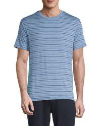 Ted Baker Men's Striped T-shirt - Navy - Size S - Blue
