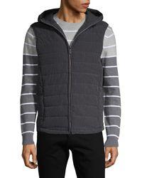 Perry Ellis Hooded Puffer Vest - Black