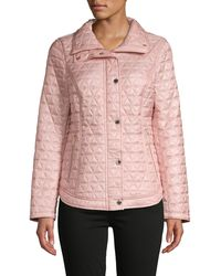 MICHAEL Michael Kors Diamond-quilted Puffer Jacket - Pink