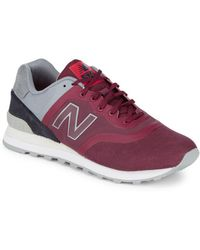 New Balance - Mixed Media Suede Trainers - Lyst