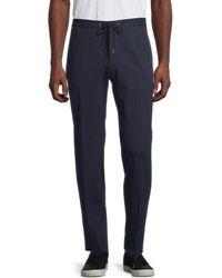 BOSS by Hugo Boss Men's Drawstring Trousers - Navy - Size 30 - Blue