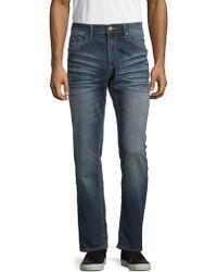 Buffalo David Bitton Evan Slim-fit Straight Jeans - Blue