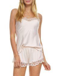 Flora Nikrooz Women's Gabby 2-piece Charmeuse Pyjama Set - Smokey Pearl - Size L - Multicolour