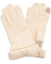 Portolano Women's Nuvola Tech-touch Knit Gloves - Oatmeal - Multicolour