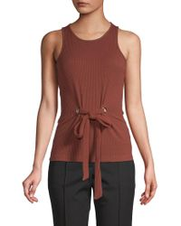 0ba06f31c2a59c Lyst - MILLY Audrey Cropped Silk Top in Black