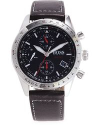 BOSS by Hugo Boss Stainless Steel & Leather Chronograph Watch - Multicolour
