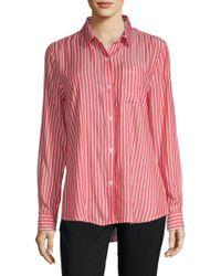 Beach Lunch Lounge - Striped Button-down Shirt - Lyst