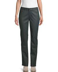 Lafayette 148 New York Waxed Straight-leg Jeans - Multicolor