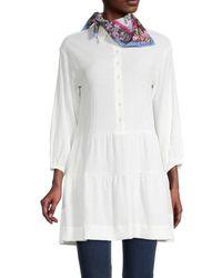 Bindya - Women's Floral-print Square Scarf - White Multi - Lyst