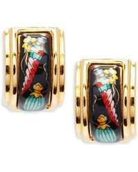 Hermès - Vintage Enamel Clip-on Earrings - Lyst