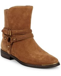 e3f5d31e5b0 Kelby Suede Moto Boots - Brown