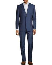 Saks Fifth Avenue Slim-fit Wool & Silk Suit - Blue