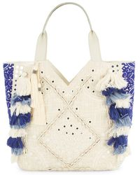 Sam Edelman Kendall Cotton-blend Satchel Bag - Blue