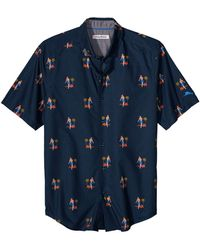 Tommy Bahama Core Hula Oasis Short-sleeve Shirt - Blue