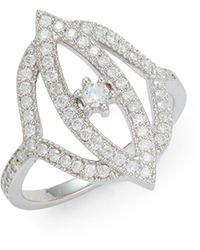 Sara Weinstock Simone 18k White Gold & Diamond Marquis Ring - Multicolour