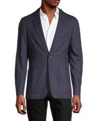 Corneliani Men's Standard-fit Cashmere & Silk-blend Blazer - Blue - Size 56 (46) R