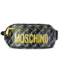 Moschino Women's Logo Leather Waist Bag - Black