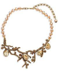 Heidi Daus Crystal Budding Branches Necklace - Metallic