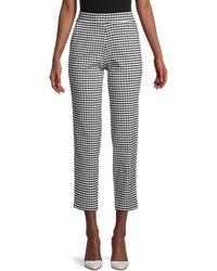 Hue Crop Gingham Trousers - Black