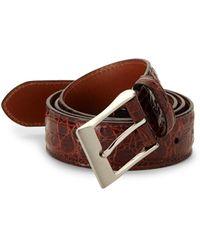 Saks Fifth Avenue Genuine Crocodile Belt - Brown