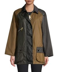 Barbour X Alexa Chung Oversized Patch Jacket - Multicolour