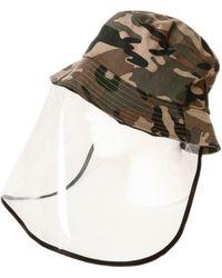 Bindya Cameron Face Shield Hat - Green