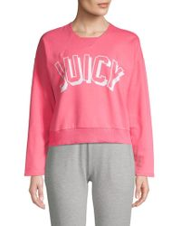 Juicy Couture Graphic Heathered Pullover - Pink