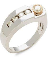 Effy Men's 14k Two-tone Gold & Diamond Ring - Size 10 - Metallic
