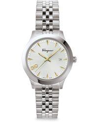 Ferragamo Women's Duo Stainless Steel Bracelet Watch - White