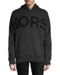 Michael Kors Men's Logo Cotton Hoodie - Caramel - Size L - Black