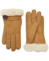 UGG Shearling & Sheepskin Gloves - Black