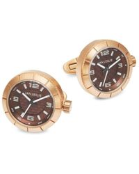 Jan Leslie Stainless Steel Watch Cuff Links - Metallic