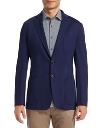 Saks Fifth Avenue Collection Solid Jersey Sportcoat - Blue