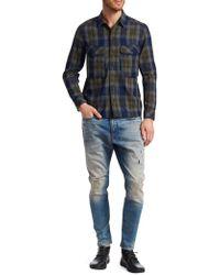 G-Star RAW - Cotton Check Utility Shirt - Lyst
