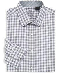 English Laundry - Chequered Cotton Dress Shirt - Lyst