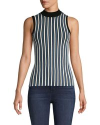 525 America Striped Sleeveless Top - Blue