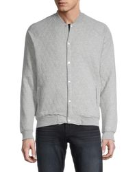 Sovereign Code Princeton Quilted Fleece Jacket - Grey