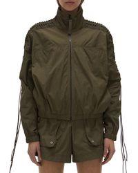 Helmut Lang Lacing Nylon Jacket - Green