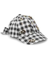 Betsey Johnson - Embellished Baseball Cap - Lyst
