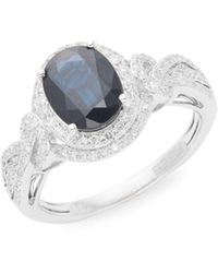 Effy 14k White Gold, Sapphire & Diamond Solitaire Ring - Multicolour