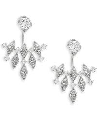 Adriana Orsini Naga Crystal Drop Earrings - Metallic