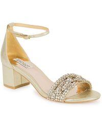 Badgley Mischka - Triana Leather Open Toe Court Shoes - Lyst