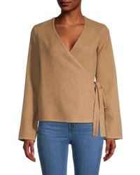 Mansur Gavriel Women's Cashmere Wrap Top - Camel - Size Xs - Multicolour