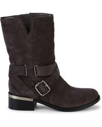 Vince Camuto Wethima Suede Mid-calf Boots - Grey