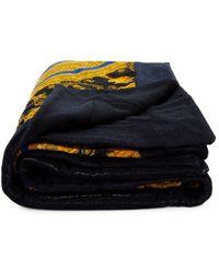 Versace Printed Cotton Beach Towel - Blue