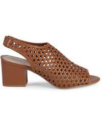 Pure Navy Women's Josie Weave Peep-toe Slingback Sandals - Black - Size 7
